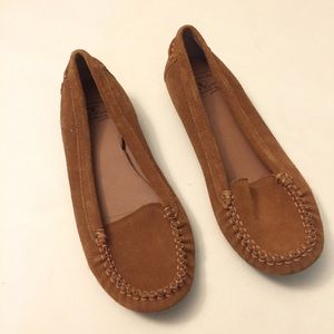 Lucky brand suede moccasins size 9